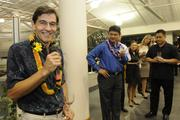 Tad Bowers, executive vice president marketing and business development at American Savings Bank, at a reception for the the Best Doctors 2014 Hawaii list at BMW of Honolulu.