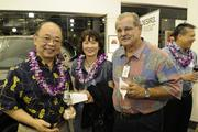 From left, Naoky and Spring Tsai, and Skip Borges of American Savings Bank.