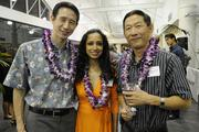 From left, Jeffrey and Rupa Wong and Charles Dung.