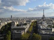 Paris, the city that inspired so much impressionist art. From the top of the Arc de Triomphe.