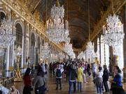 The Hall of Mirrors at Versailles, the palace of Louis XIV and other French kings.