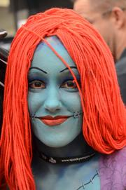 Mattos' wife Kristina was painted up as Jack's better half, Sally.