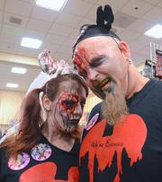 Who doesn't look like this after a day at Magic Kingdom? Angie Calabrese and Matt Allen actually got engaged during the Spooky Empire event in May.