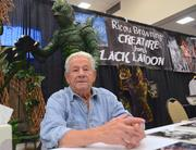 """Ricou Browning, who wore the Gil Man costume for the underwater scenes in """"The Creature from the Black Lagoon,"""" also made an appearance. Here he is being patient for me as I stopped asking stupid questions long enough to take his picture."""