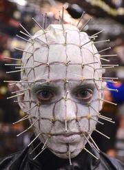 And finally, Kimberly Szmajda of Cape Canaveral has been cosplaying since she was 7 years old. At 17, she's put together the best Pinhead costume I've ever seen. Holy Hellraiser.