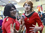 Remember the red shirt officers who never made it back from all those away missions on Star Trek? This is their revenge, thanks to Amanda Brooks and Kitty Sullivan of Gainesville. It's highly logical.