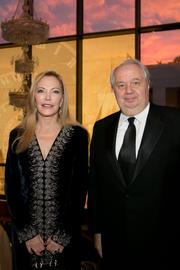 "The American-Russian Cultural Cooperation Foundation (ARCCF) held its 21st Annual Gala ""Friends in Time of War"" Oct. 7 at the Embassy of the Russian Federation. Shown here are Susan Lehrman and H.E. Sergey I. Kislyak."