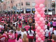 Participants gathered at Mizner Park for the start.