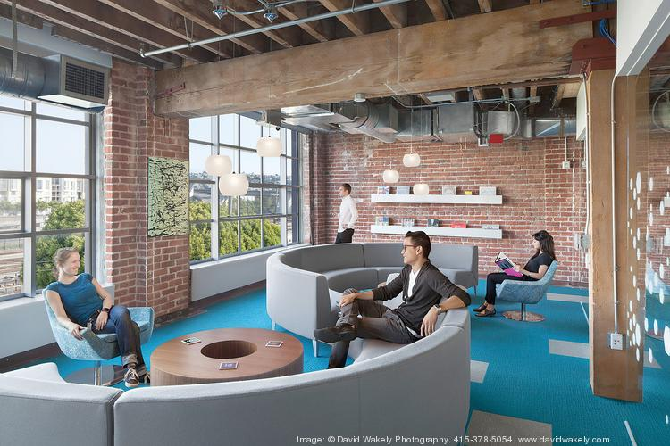 Adobe's San Francisco offices span 625, 601 and 401 Townsend St., with plenty of space for meetings and collaboration.