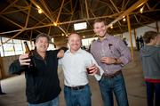 Choate Construction employees enjoy a brew.