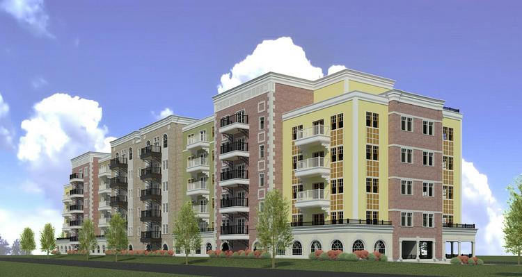 The Esplanade includes 294 apartments, a clubhouse with a pool, spa, fitness room and restaurant/lounge.