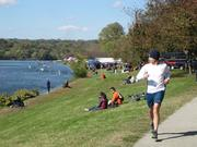 The Head of the Schuylkill Regatta in Philadelphia covers 2.5 miles and can be seen from many vantage points along Kelly Drive and the adjacent bike path.
