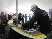 One of the vendors was selling an apparatus that could be attached to a stand-up paddleboard.