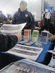 USRowing had a prominent place in the pavilion tent. Several members of the women's team were also on hand to sign autographs between races.