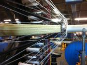 A photo of the manufacturing process for Phillystran's synthetic rope.