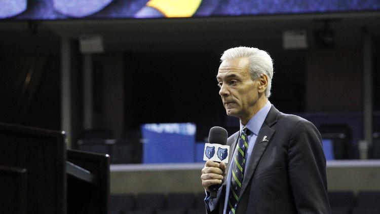 Richard Shadyac CEO of ALSEC said a few words to the Grizzlies fans.
