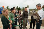 The Blackland Prairie Raptor Center showcased birds of prey that can often be seen along The Tribute Shoreline Nature Trail.