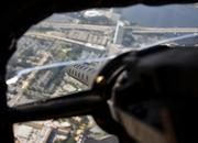 """The Jacksonville sky-view is seen from the Liberty Foundation's B-17 """"Memphis Belle"""" on Monday, Oct. 28, 2013."""