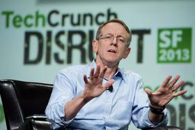 John Doerr, a senior partner with Kleiner Perkins Caufield & Byers, speaks at the TechCrunch Disrupt SF 2013 conference.