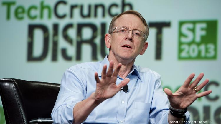 John Doerr, a senior partner with Kleiner Perkins Caufield & Byers, speaks at the TechCrunch Disrupt SF 2013 conference in San Francisco.