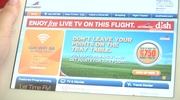 This is what Southwest passengers will see as they  sign in to the free DISH programming on their devices in flight.