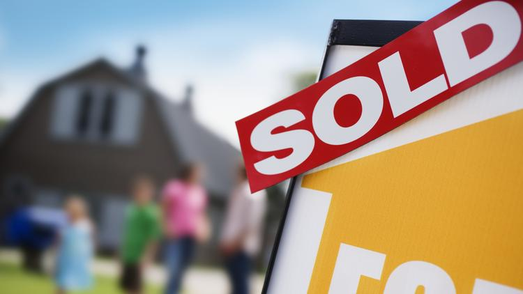 The Charlotte Regional Realtor Association says 3,193 properties in the local market were sold last month, down 6.5 percent from a year earlier, while average and median sale prices increased.