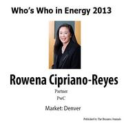 Who's Who in Energy 2013: Rowena Cipriano-Reyes (Denver)