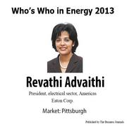 Who's Who in Energy 2013: Revathi Advaithi (Pittsburgh)