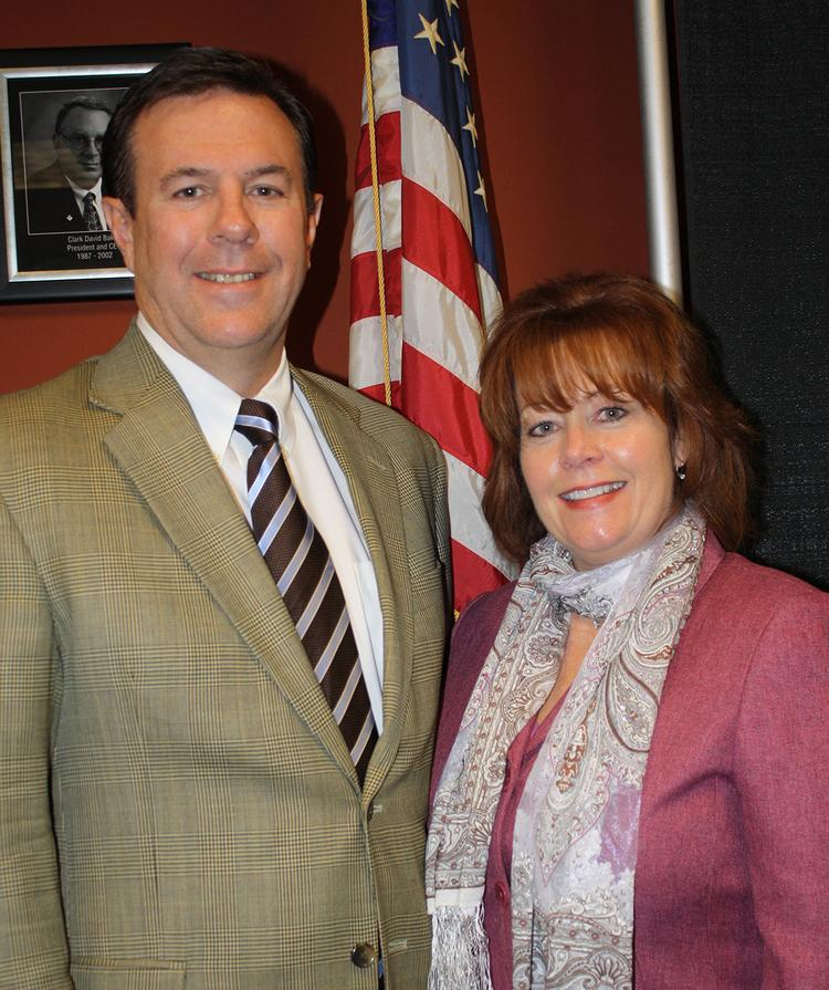 Wes Blumenshine, board chairman-elect, and Catherine Glover, president, of the Tennessee Chamber of Commerce & Industry.
