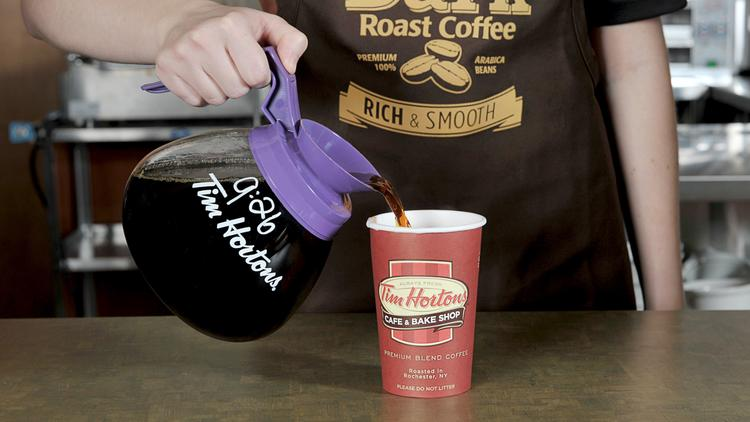 Tim Hortons is close to hooking up with Burger King.