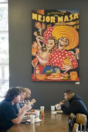 The Mexican cafe at the Googleplex is just one of several restaurants and cafes workers can eat at — for free.