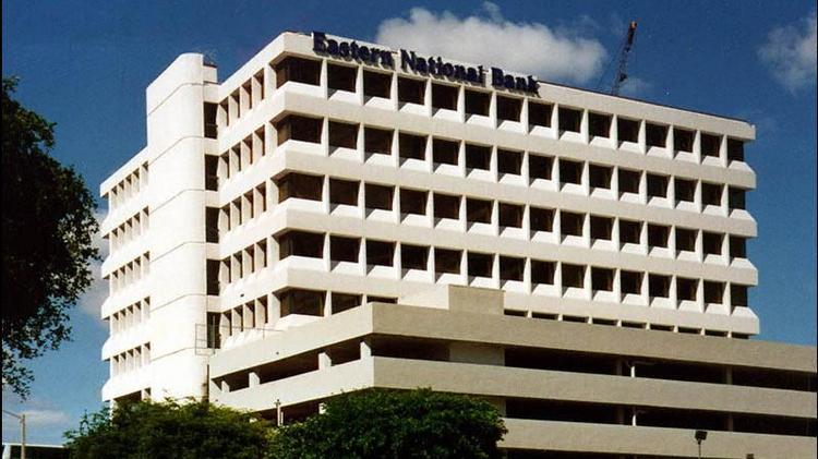 Eastern National Bank saw a decline in its loans during the first quarter.