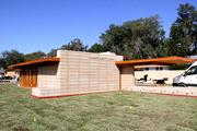 Almost 2,000 textile blocks in 47 different shapes were used to build the 1,700-square-foot house.