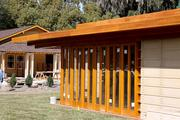 The Frank Lloyd Wright Usonian House at Florida Southern College is a one-story, two bedroom, one-bath home.