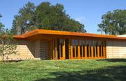The Frank Lloyd Wright Usonian House at Florida Southern College is nearly complete.