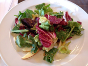 Chicory and apple salad, with brown butter and sherry vinaigrette