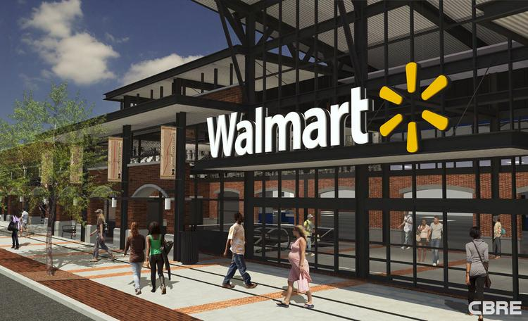 CBRE Group Inc. is marketing Walmart's planned store at 5929 Georgia Ave. NW to interested buyers.