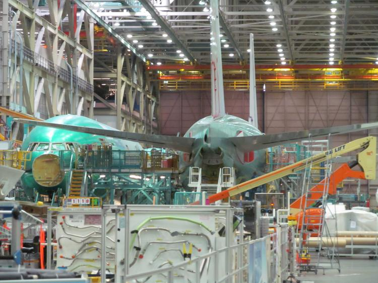 Boeing plans to spread 777X engineering work across the country, but the decision on assembly has not been revealed. If the Machinists union approves a new contract, Boeing has said the plane will be assembled in Everett, though the wings could be manufactured elsewhere in the Puget Sound area. The current 777 aircraft, shown here, is assembled in Everett.