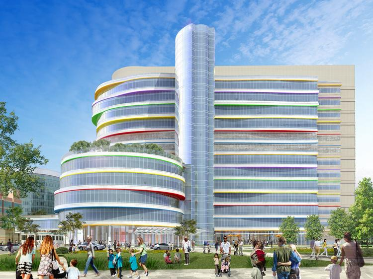 Rendering of CHOP's Buerger Center for Advanced Pediatric Care