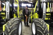 """Gary Taylor, assembly supervisor at Donkey Forklift.  This was part of our """"Made in Denver"""" cover story on local manufacturing. (October 2013)"""