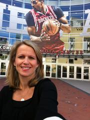 Julie Hardin  I am a Houston sports fanatic.  My best memories were made at the Summit, but I am optimistic that may change this year, so the Toyota Center it is.