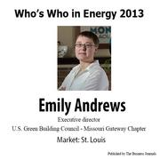 Who's Who in Energy 2013: Emily Andrews (St. Louis)