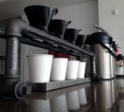 Pour-over station ready to go at Zeke's Coffee in D.C.