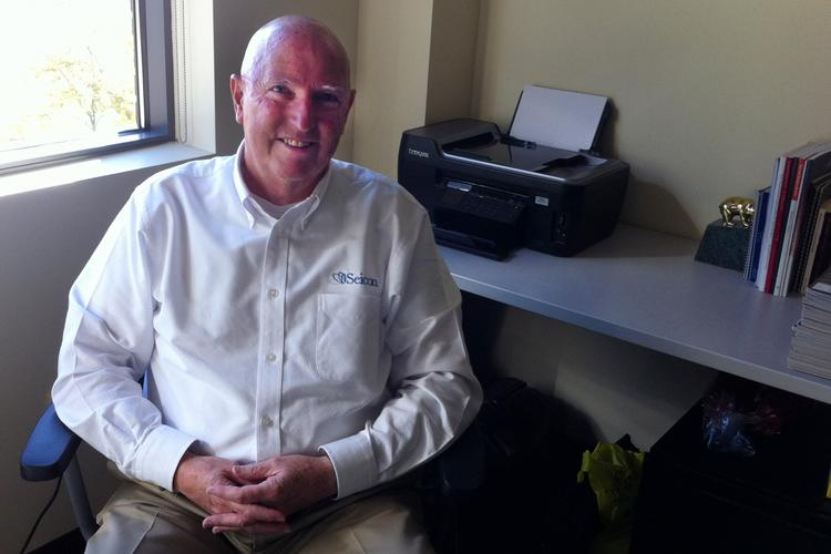 Fred Miller keeps an office at the Inc@8000 incubator in New Albany for his Seicon Ltd.