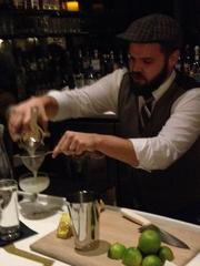 Nate Howell mixes a Daiquiri in a demonstration