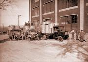 Delivery trucks at Gates Rubber Co. in Denver in the 1920s.