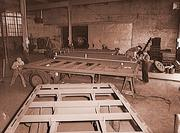 Frames for truck trailers built at the Winter Weiss Co. in Denver in 1941.