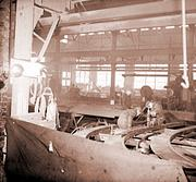 In the 1940s parts for ships were manufactured at this plant in Denver. They were sent to a California shipyard for assembly.