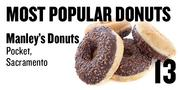 No. 13. Manley's Donuts, 360 Florin Road, Pocket, Sacramento, based on Yelp and Urbanspoon ratings.