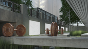 Renderings show details featuring the mill's history.